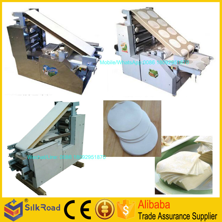 Stainless steel automatic round square wonton ravioli skin machine