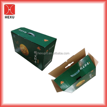 Best Sales Delicate Protective Corrugated Cartons Paper Packaging Gift Boxes for Grapes/ Pears/Fruits with Die-cutting Handles