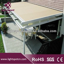 Outdoor sunshade remote control retractable siding awning for balcony