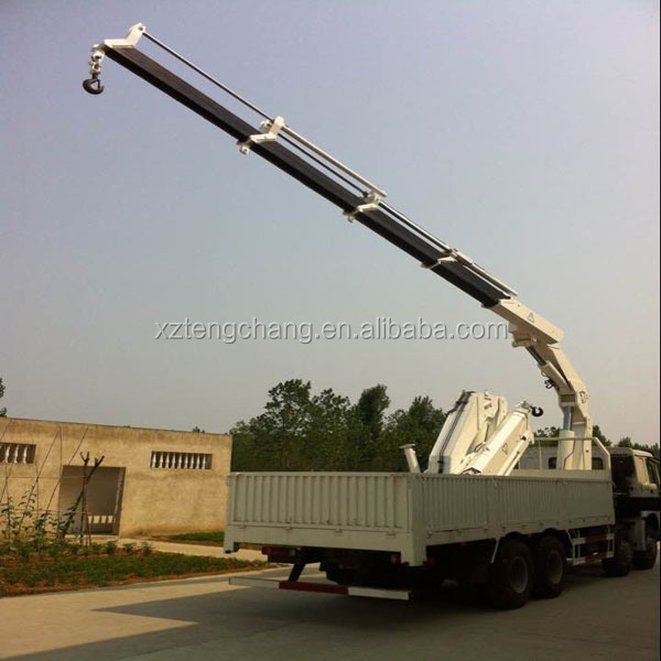 hot sale hydraulic foldable knuckle arm crane with lorry mounted
