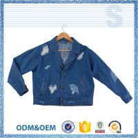 Welcome OEM ODM broken hole fashion suit jacket for girls