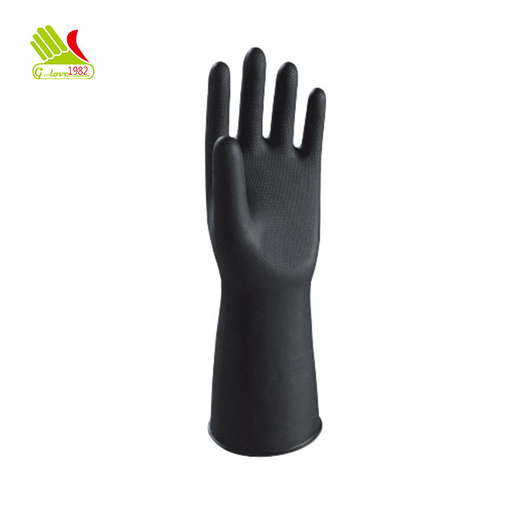 Industrial Neoprene Fashion Black Builders Gloves