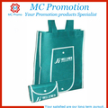 Custom non-woven foldable tote bag with snap closure