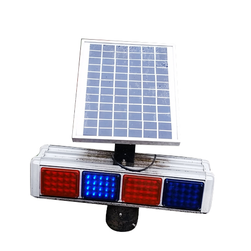 Newest led traffic sign flashing red and green light integrated solar street car roof lights