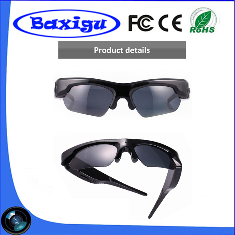 Wholesale Newest Products 5 mega pixels CMOS pinhole Spy Glasses Camera with Free Shipping, 1920*1080P DVR Spy Glasses Camera