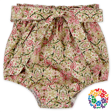 Sweet Baby Grils Summer Floral Bowknot High Waist Bloomer