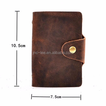 Cheap Genuine Leather card holder for ID card, business card, name card