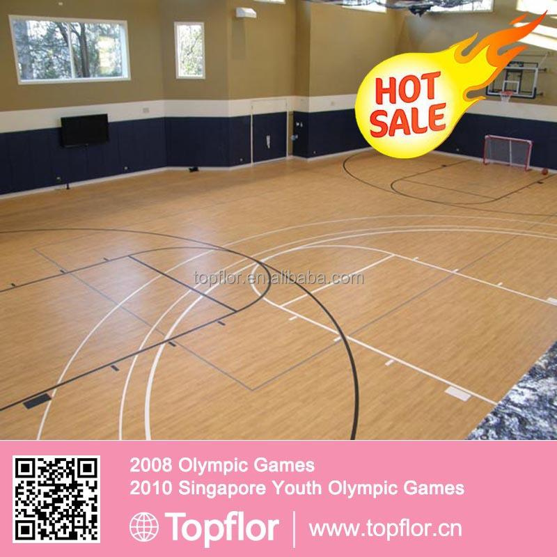 Topflor flex floor for basketball court used basketball for Basketball court flooring cost