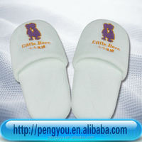 2014 cotton indoor kids embroidery slippers