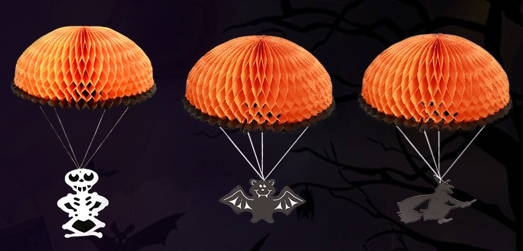 decorative tissue paper honeycomb for Halloween