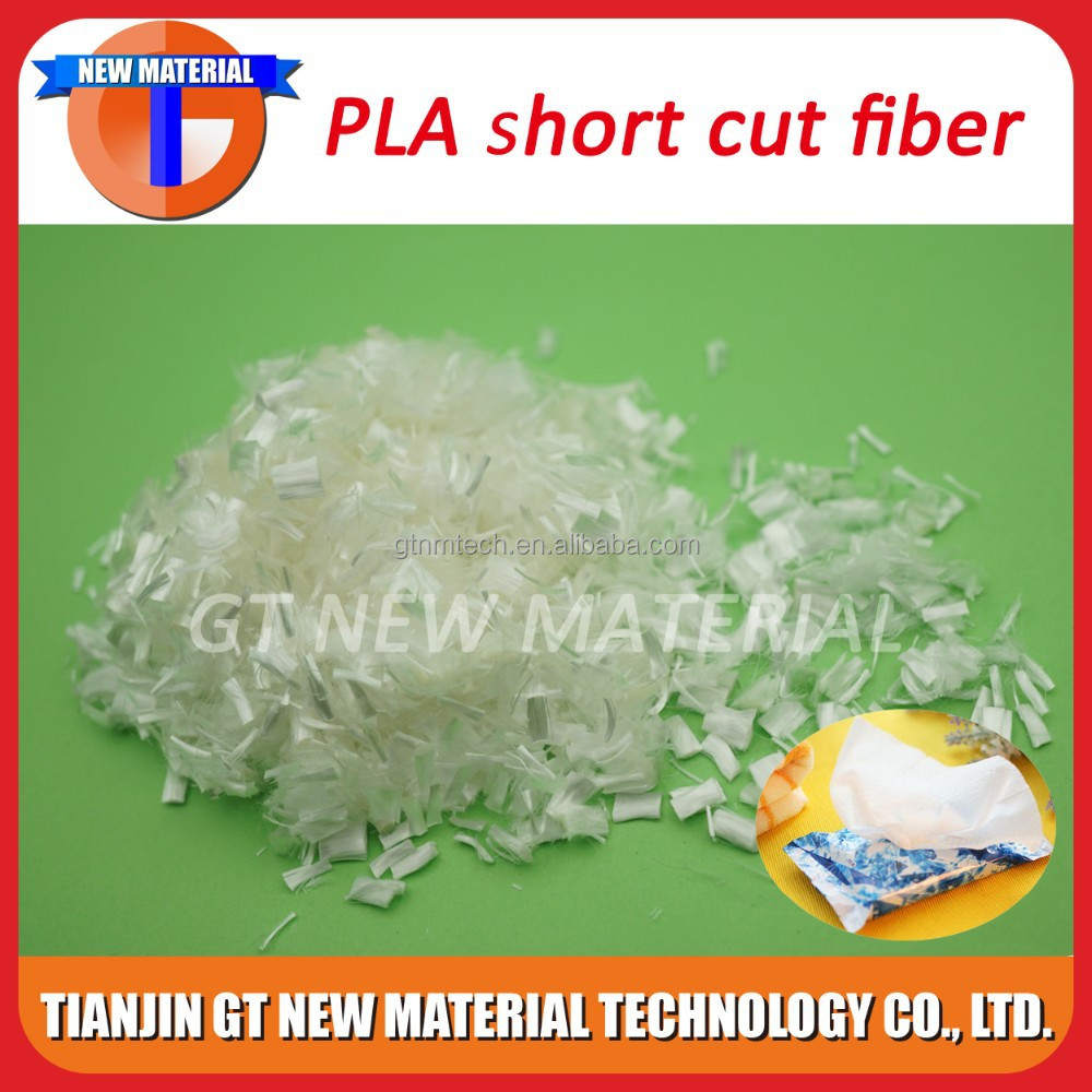 1.3D poly lactic acid pla short cut fiber, pla fiber for wet tissue