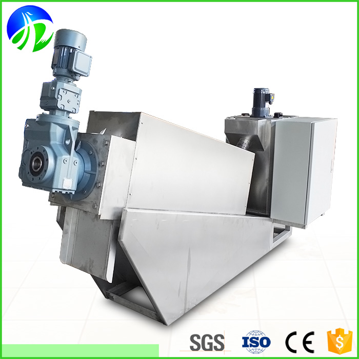 Volute palm oil sludge dewatering screw press