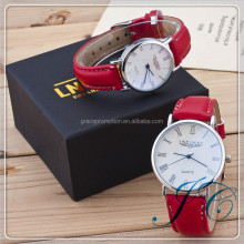 2015 Hot Sale Charm Couples Leather Straps Watch With China Manufacturer