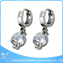 ZS15058 wholesale drop hoop earrings fashion dangle zircon heavy earrings
