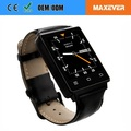 "1.63"" MTK6580 Quad Core 3G WIFI GPS Heart Rate Monitor Android Smart Watch Phone D6"