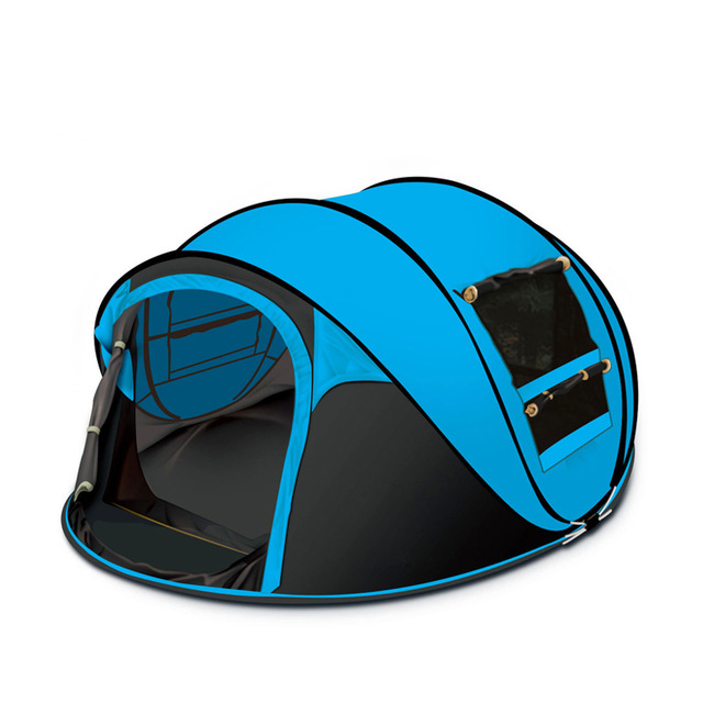 Hot Sale Large space outdoor 3-4persons automatic pop up <strong>tent</strong> windproof waterproof Family Sport camping <strong>tents</strong>