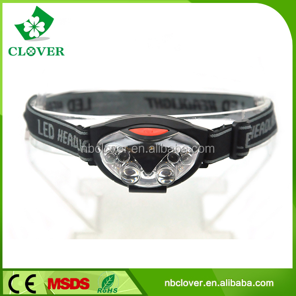 3*AAA Battery 4 white + 2 red led 30-50LM brightest hiking camping led headlamp