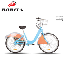 2017 China 26* inch city bike rental system aluminum bicycle public