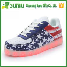factory made 2016 high quality unisex American style casual shoes led