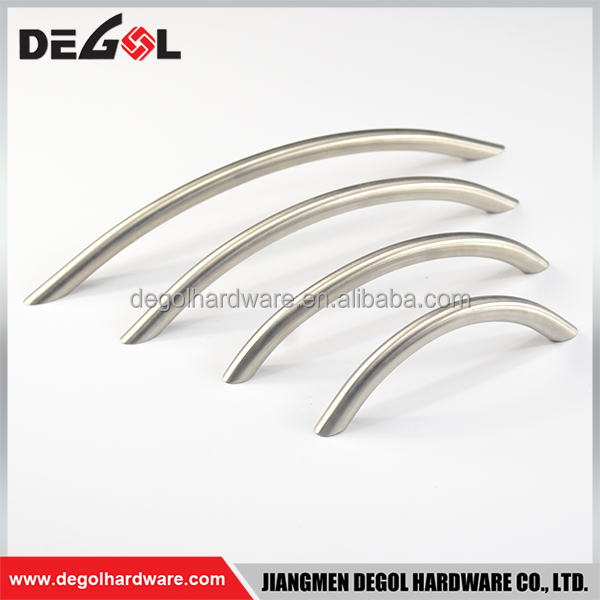 Hot sale stainless steel solid curved shape cabinet kitchen hardware furniture