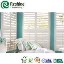 Plastic window blind PVC plantation shutter louvers
