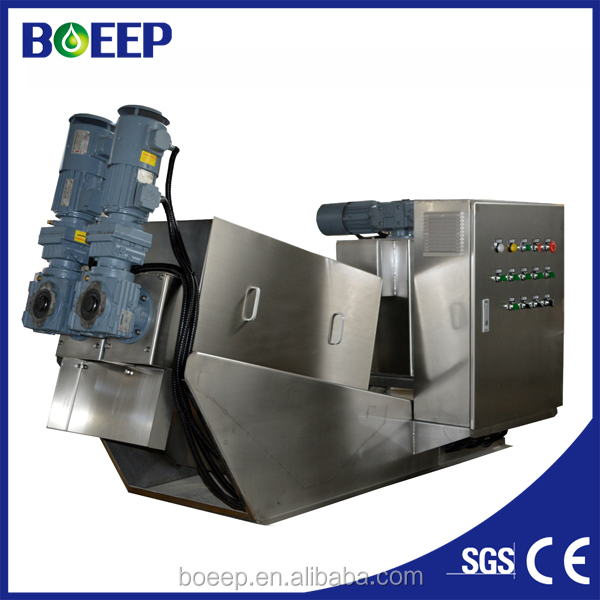 Self Cleaning Sludge Dewatering Equipment for Sewage Treatment