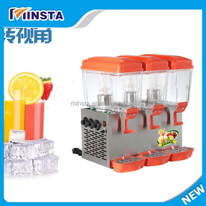 Hot sale automatic three tanks commercial cold juicer dispenser,cold drink dispenser