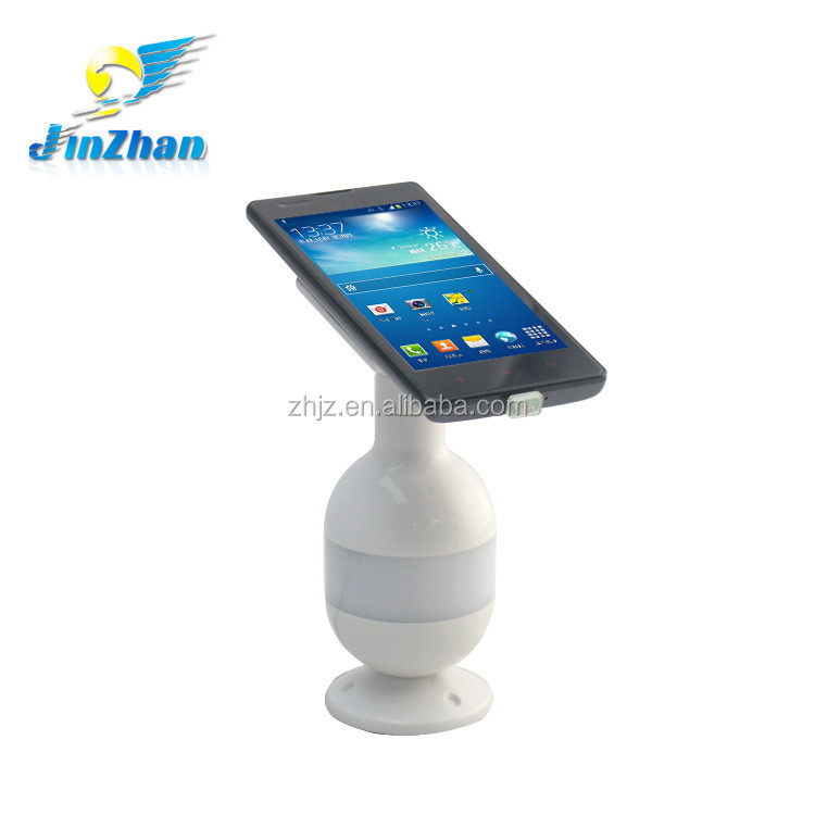 Android tablet and smart phone rotating stand with 3D flash alarm,phone tablet stand,plastic mobile phone holder