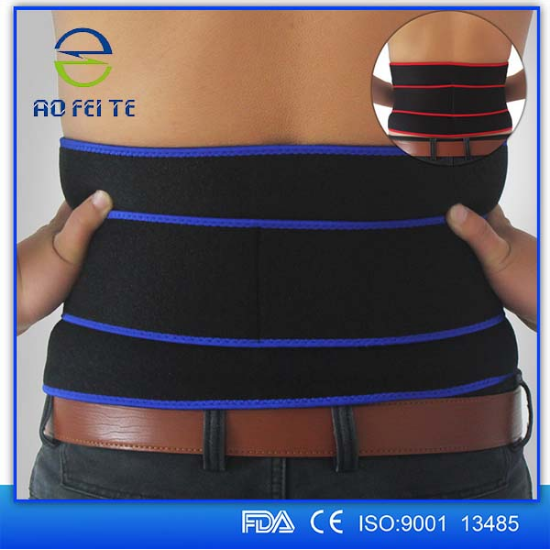 adjustable Double posture fitness Neoprene lower back support lumbar brace belt