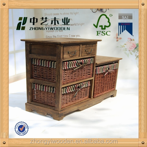 antique bed room furniture paulownia handmade wooden cabinet