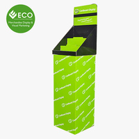 Assemble Floor Standing Cardboard Sign Newspaper Counter Display Rack For Advertising Brochures