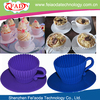 2013 Colorful Eco-friendly BPA Free Best-selling Silicone Cupcake Maker With Plastic Saucer Set Of 4pcs