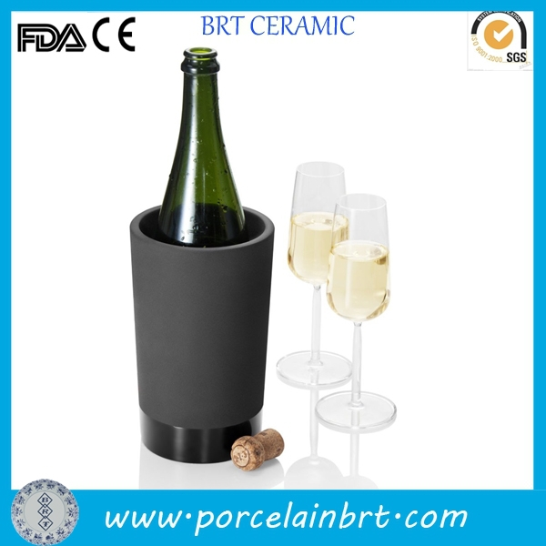ceramic black champagne cooler champagne bucket