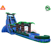 pvc tarpulin inflatable slide giant inflatable pool water slide for adult