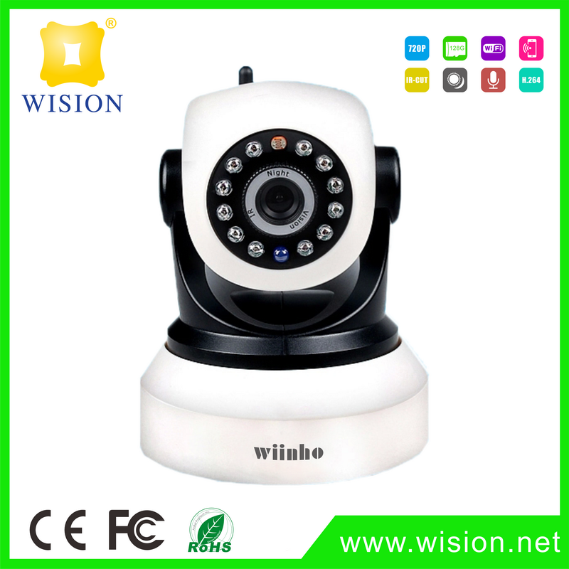 Smart home WiFi IP camera for home video surveillance and connects to ZigBee gateway