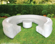 Outdoor inflatable furniture sofa set inflatable circular sofa , inflatable sofa for party