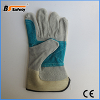 BSSAFETY cheap leather welding industrial working glove