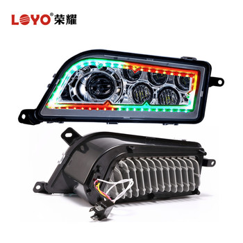 Top Sale! 2017 newest high low beam RZR RGB led H4 headlight for Polaris RZR auto parts