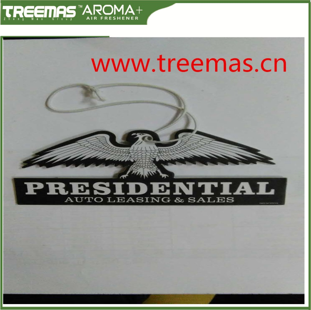 2016 lowest price good quality logo eagle hanging car air freshener