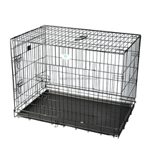 wholesale double outdoor dog crate with wheels