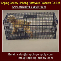 Black Color Strong Steel Dog Trap Cage