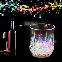 Wholesale Nightclub LED Light Beer Cup Creative Luminous Plastic Wine Glass for Bar