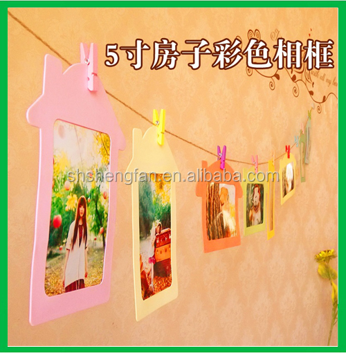 Promotional Decorative funny house shape Paper love photo frame