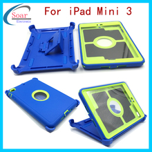 shock proof kids tablet case ,plastic heavy duty Tablet cover,for ipad Mini 3 child proof case