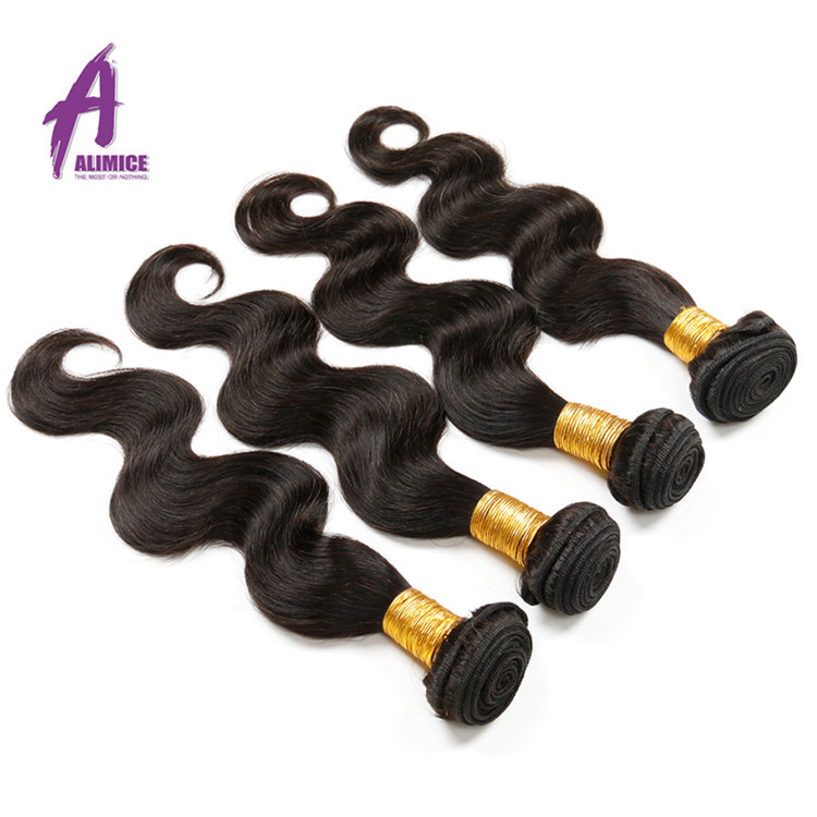 Body wave Cheap Remy Human Hair Weaving Natural Brazilian 100% Virgin Human Hair
