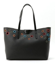 Black PU Leather Tote Bag