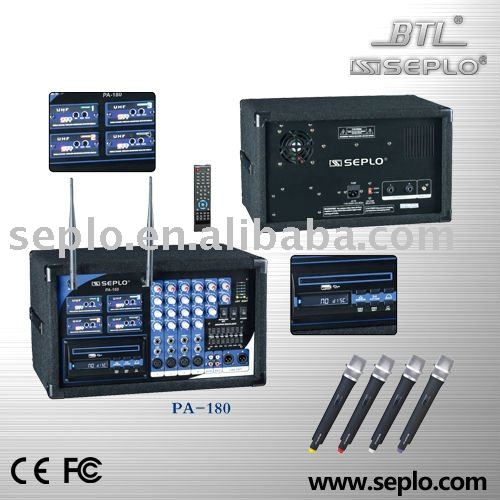Professional portable wireless amplifier PA-180
