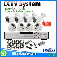 4pcs Indoor camera 4pcs outdoor camera 8CH Alarm DVR Security system with 1TB HDD