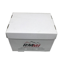 Customized Made Printed Corrugated Paper Portable File Storage Box