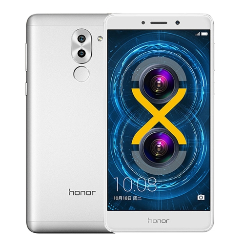 5.5 inch 3GB+32GB Silver Original unlocked Huawei Honor 6X with Dual Rear Cameras and online shopping